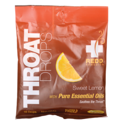Throat Drops  Sweet Lemon, 16 Ct