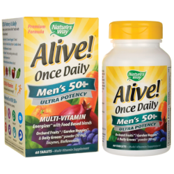 Alive Once Daily Mens 50 Ultra Potency, 60 Tabs
