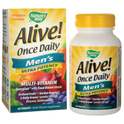 Alive Once Daily Mens Ultra Potency, 60 Tabs