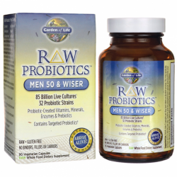 RAW Probiotics Men 50 & Wiser, 90 Veg Caps