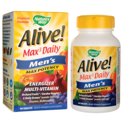 Alive Max 3 Daily Mens MultiVitamin, 90 Tabs