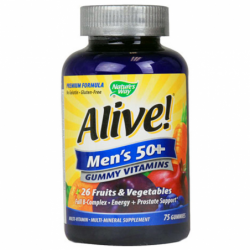 Alive Mens 50 Gummy Vitamins, 75 Gummies