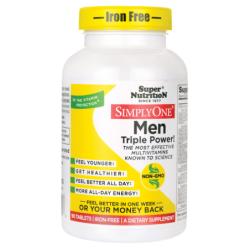 Simply One Men Triple Power  IronFree, 90 Tabs