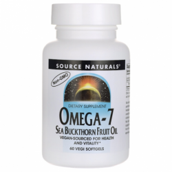 Omega7 Sea Buckthorn Fruit Oil, 500 mg 60 Vegan Sfgs
