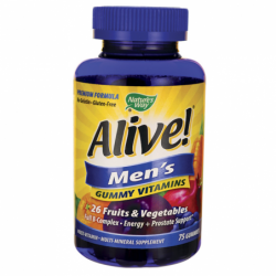 ALIVE Mens Gummy Vitamins, 75 Gummies
