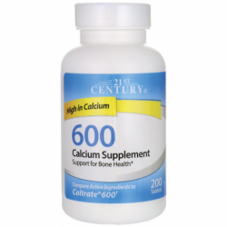 600 Calcium Supplement, 600 mg 200 Tabs