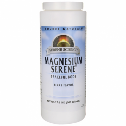 Serene Science Magnesium Serene  Berry Flavor, 17.6 oz (500 grams) Pwdr