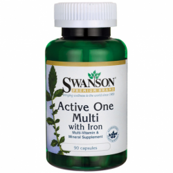 Active One Multivitamin with Iron, 90 Caps
