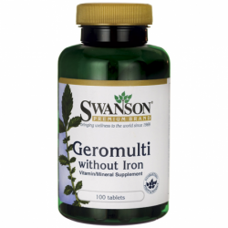 Geromulti without Iron Multivitamin for Seniors, 100 Tabs