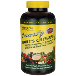 Source of Life Adults Chewable Multivitamin Apple Cinnamon, 90 Wafers