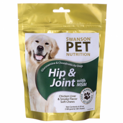 Glucosamine & Chondroitin for Dogs Hip & Joint with MSM, 6.35 oz (180 grams) Pkg