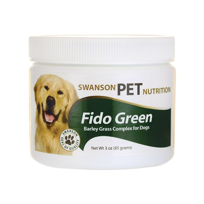 Fido Green Barley Grass Complex for Dogs, 3 oz (85 grams) Pwdr