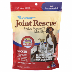 Sea Mobility Joint Rescue Soft Chew Squares  Chicken, 9 oz (255 grams) Pkg