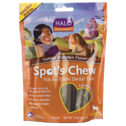 Spots Chew Dental Treat Yummy Pumpkin Flavor, 7.2 oz Pkg