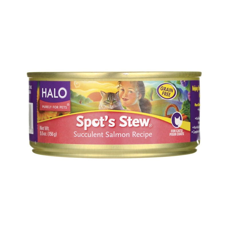 Spots Stew for Cats Salmon, 5.5 oz Can