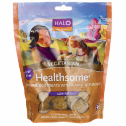 Healthsome Dog Biscuits Vegetarian  Peanut & Pumpkin, 8 oz Pkg