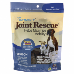 Sea Mobility Joint Rescue Soft Chew Squares  Venison, 9 oz (255 grams) Pkg
