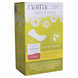 Natural Curved Panty Liners, 30 Ct