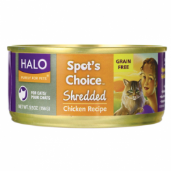 Spots Choice for Cats  Shredded Chicken Recipe, 5.5 oz Can