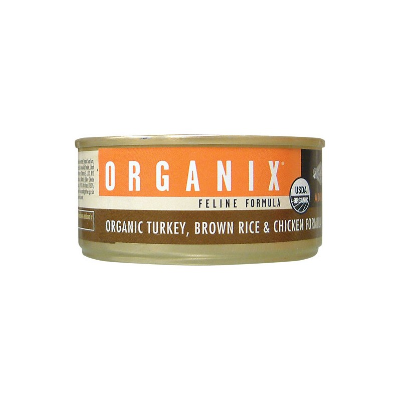 Organix Feline Turkey, Brown Rice and Chicken, 5.5 oz Can