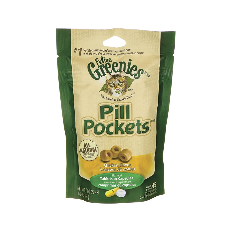 Pill Pockets For Cats Chicken, 45 Ct
