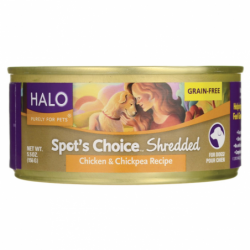 Spots Choice for Dogs  Shredded Chicken & Chickpea Re, 5.5 oz Can
