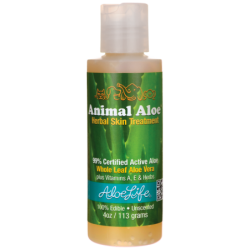 Animal Aloe Herbal Skin Treatment, 4 oz (113 grams) Gel