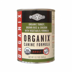 Organix Canine Turkey, Brown Rice & Chicken, 12.7 oz Can