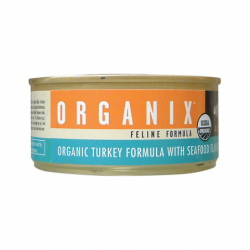 Organix Feline Turkey with Seafood, 5.5 oz Can
