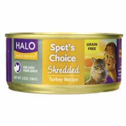 Spots Choice for Cats  Shredded Turkey Recipe, 5.5 oz Can