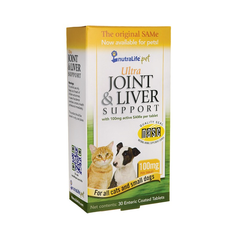 Ultra Joint & Liver Support  Cats and Small Dogs, 100 mg 30 Tabs