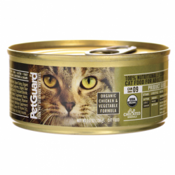 Canned Cat Food Organic Chicken & Vegetable, 5.5 oz Can