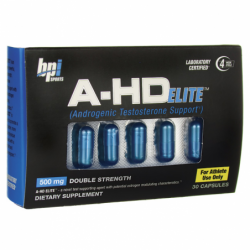 AHD Elite Androgenic Testosterone Support, 500 mg 30 Caps