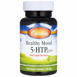 Healthy Mood 5HTP Elite  Raspberry Flavor, 50 mg 120 Tabs