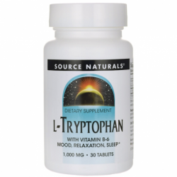 LTryptophan with Vitamin B6, 1,000 mg 30 Tabs