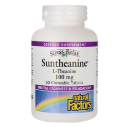 Stress Relax Suntheanine LTheanine, 100 mg 60 Chwbls