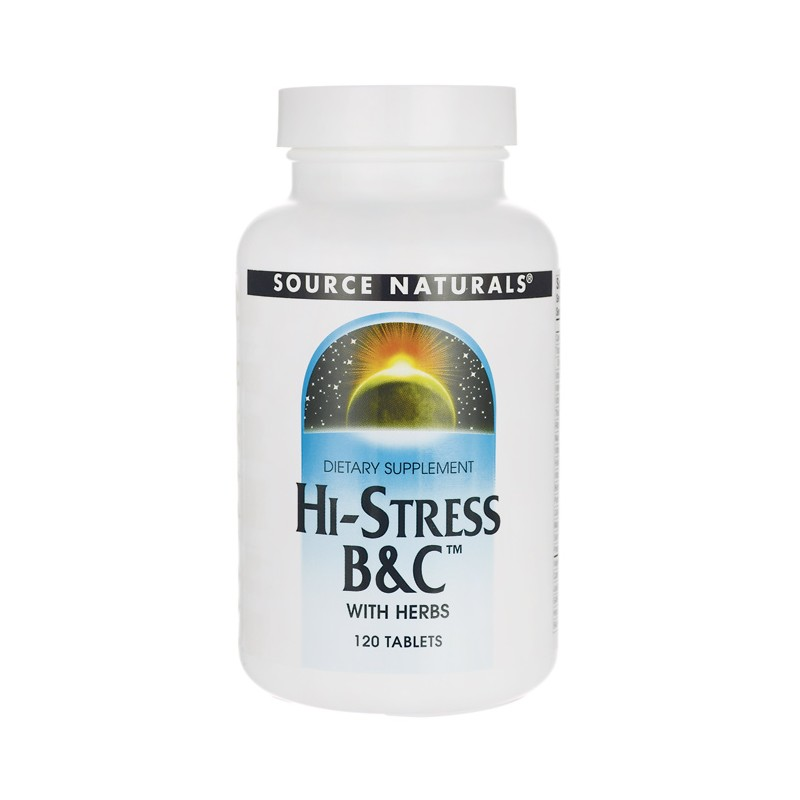 HiStress B&C with Herbs, 120 Tabs