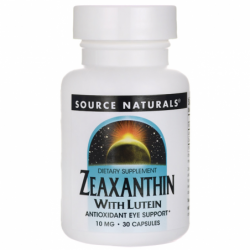 Zeaxanthin with Lutein, 10 mg 30 Caps