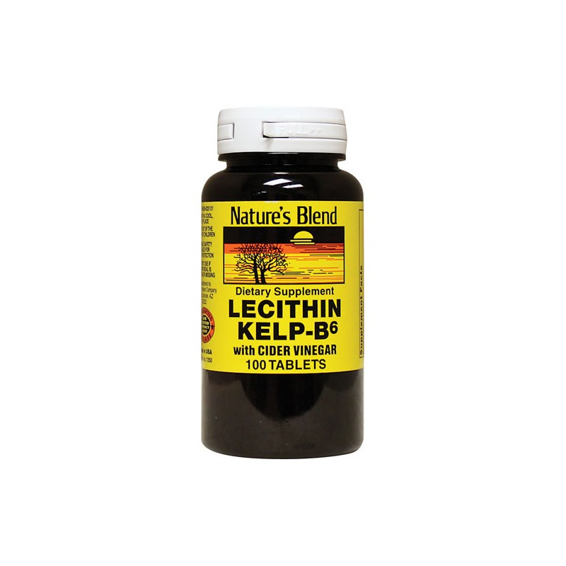 Lecithin KelpB6 with Cider Vinegar, 100 Tabs