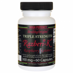 Triple Strength RazberiK Raspberry Ketones, 300 mg 60 Caps