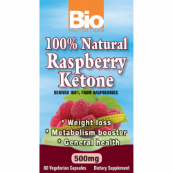 100 Natural Raspberry Ketone, 500 mg 60 Veg Caps