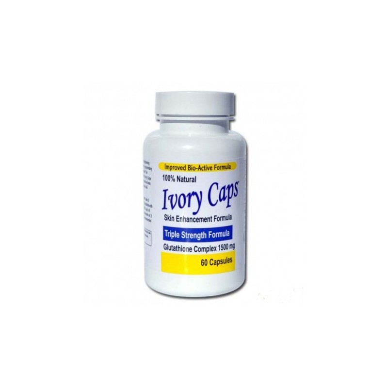 Ivory Caps Maximum Potency Glutathione Skin Whitening Pills Complex 60 Caps by Princeton Nutritional Systems
