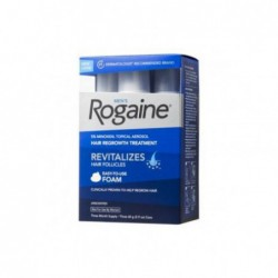 Men s Rogaine 5  Minoxidil Topical Aerosol Hair Regrowth Treatment Foam, Unscented, 3 Month Supply  each can 2 11 oz   60 g