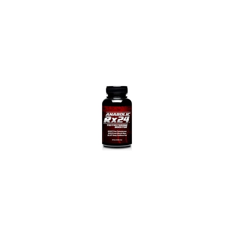 Anabolic Rx24 Testosterone Booster 742mg per capsule by biotrimlabs