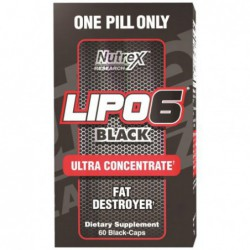 Lipo-6 Black Ultra Concentrate Fat Destroyer  60 Black-Caps by Nutrex Research