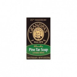 Pine Tar Soap, 4 25 oz Bar by Grandpa Soap Co