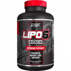 LIPO-6 Black Extreme Potency 120 Capsules, Powerful Weight Loss Support