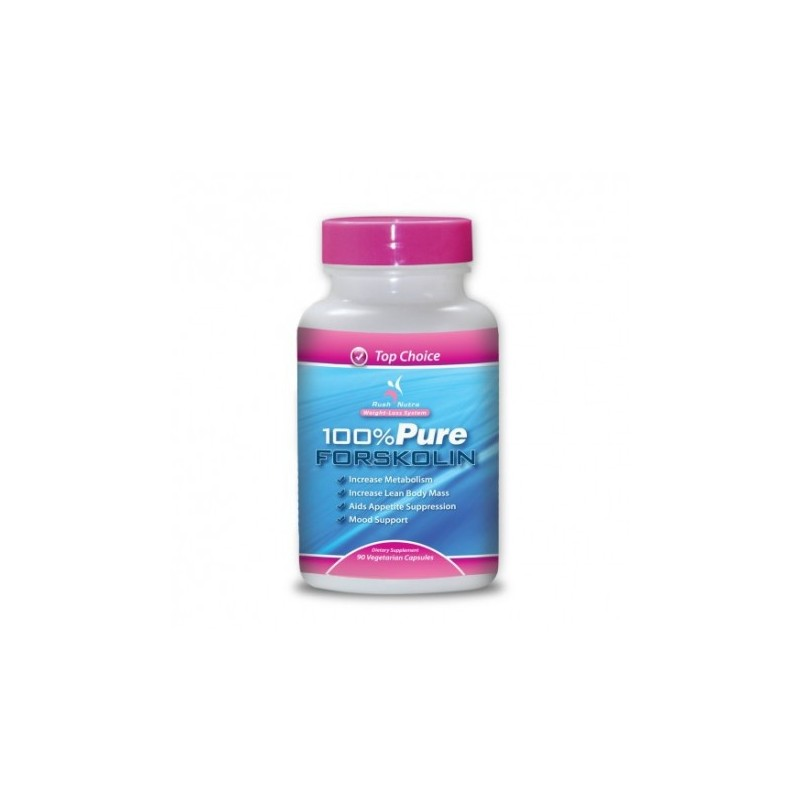 100  Pure Forskolin Extract 750 Mg - 90 Vegetarian Capsules by rushnutra
