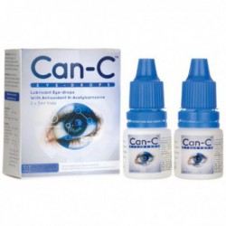 Lubricant Eye Drops with N-Acetylcarnosine, 2   5 ml Vials by Can-C