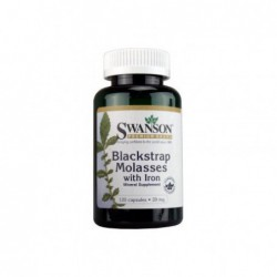 Blackstrap Molasses with Iron, 29 mg 120 Caps by Swanson Premium